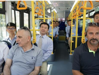 以色列首条纯电动公交线中国造 已在全球40多个城市运营