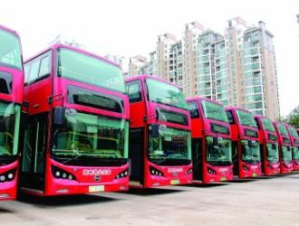 """36辆""""桂林制造""""纯电动双层巴士2月1日开跑"""