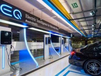 梅赛德斯奔驰为其全新电子品牌设立专属充电