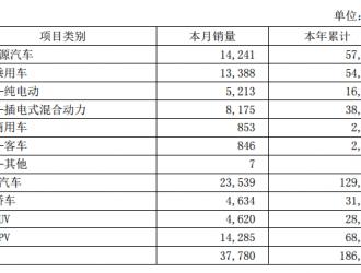 比亚迪5月新能源车销量破1.4万台 乘用车超1.3万台