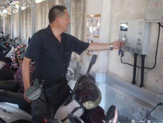 淮南引入新型电动车智能充电桩