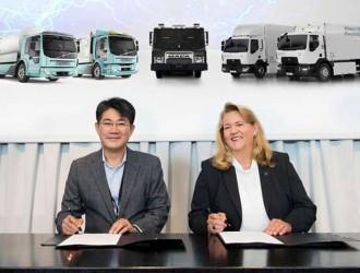三星SDI为沃尔沃集团的电动卡车产品开发电池组