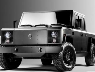 电动皮卡车还能越野,外国公司概念车测试版出现