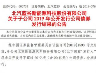 北京新能源汽车发行15亿元债券 票面利率4.2%