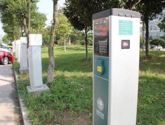 海南省海口集中投放500个充电桩