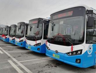 沙湾首批15辆新能源公交车正式上线运营!